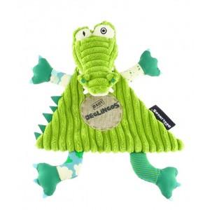Doudou Plat Aligatos l'Alligator