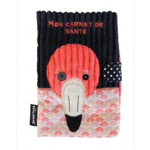 Protege Carnet de Sante Flamingos - Le Flamant Rose