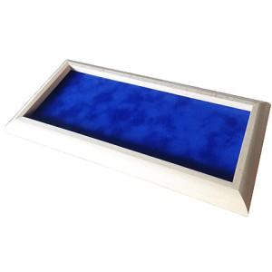 Piste de dés Rectangulaire claire - Feutrine bleue