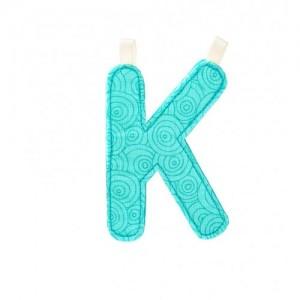 Lettre Majuscule K en tissu