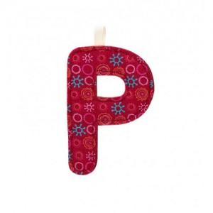 Lettre Majuscule P en tissu