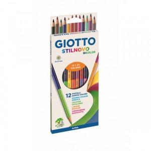 12 Crayons de Couleur Bicolor Stilnovo