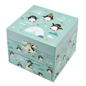 Boite a Musique Cube Phosphorescent Pingouin