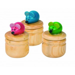 Boite a Dents en bois - Souris 3d
