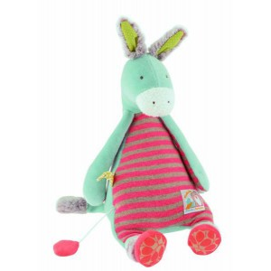 Doudou ane brindille musical - collection biscotte et pompon