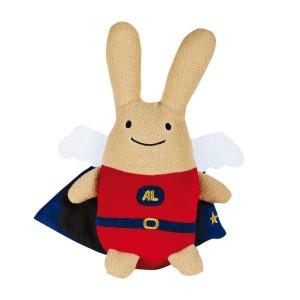 Super heros ange lapin geant 50 cm