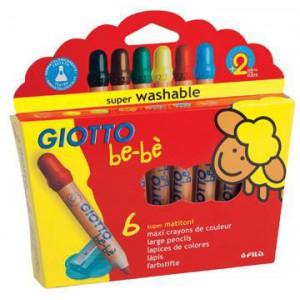 6 Maxi Crayons de Couleur