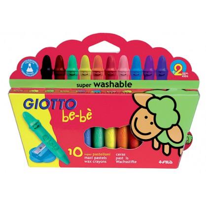 10 Maxi Crayons de Cire Incassables