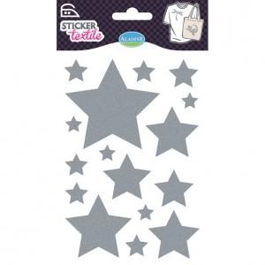 Sticker Textile Etoile Glitter Argenté