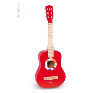 Grande Guitare Rouge Confetti