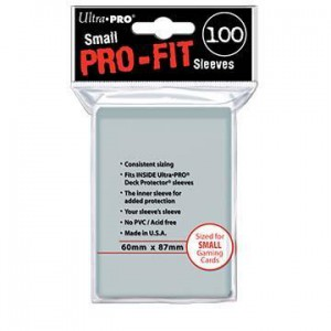 100 Protèges Cartes Pro Fit Small Clear