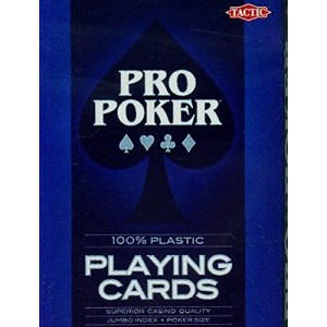 Pro Poker Cartes 100% Plastique
