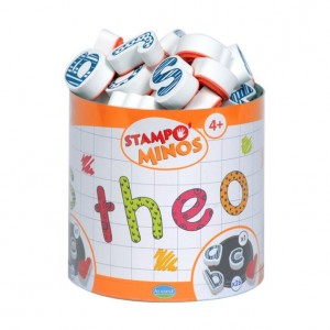 Stampo Minos Lettres Minuscules - 26 Tampons et 1 Encreur Geant