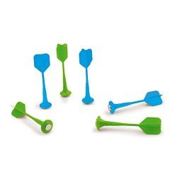 Boite de Set de Flechettes Vert Bleu