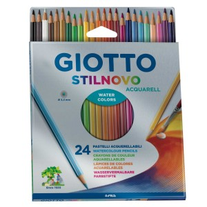 24 Crayons de Couleur Aquarellables Stilnovo