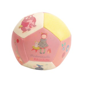 Balle Souple rose 10 cm - Collection Mademoiselle et Ribambelle