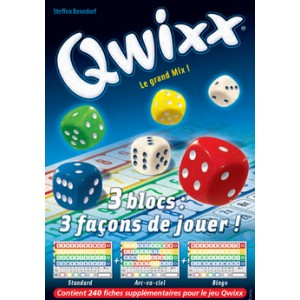 Qwixx Le Grand Mix Recharge 3 Blocs