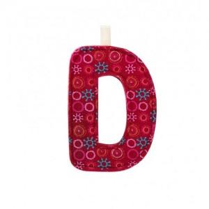 Lettre Majuscule D en tissu