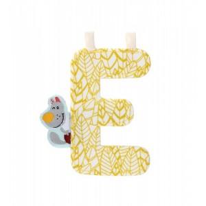 Lettre Majuscule E en tissu
