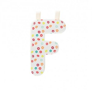 Lettre Majuscule F en tissu