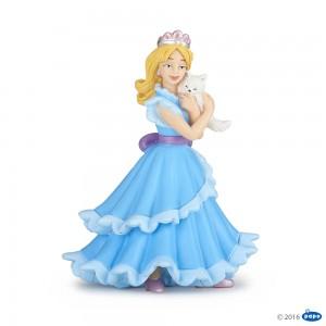 39125 Princesse au Chat - Robe Bleue