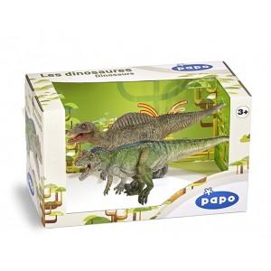 Coffret Dinosaures - Spinosaure et Ceratosaurus