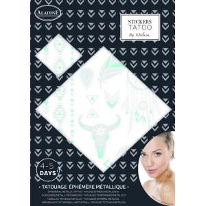 Stickers Tatouage Ephemere Etnic Turquoise