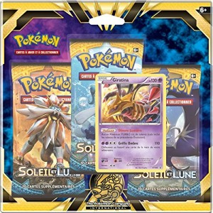 Pack 3 Boosters Pokemon Giratina SL01 Soleil et Lune