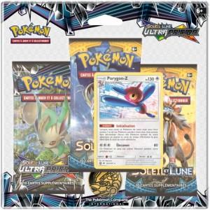 Pack 3 Boosters Pokemon Ultra Prisme Soleil et Lune SL05