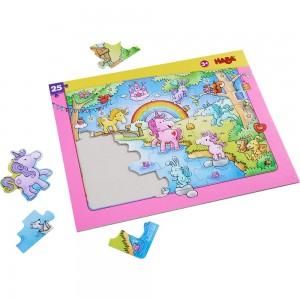 Puzzle Cadre Licornes dans les Nuages