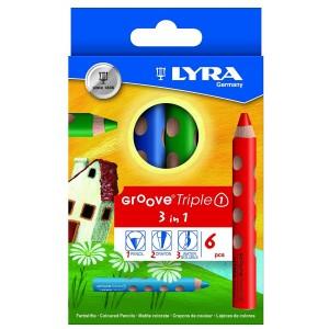 Crayons de Couleur Groove 3 en 1 Triple One