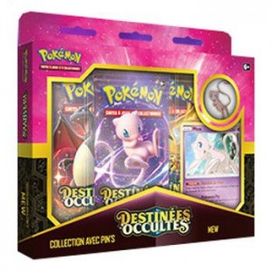 Coffret Pins Pokemon Destinees Occultes Mew SL11.5