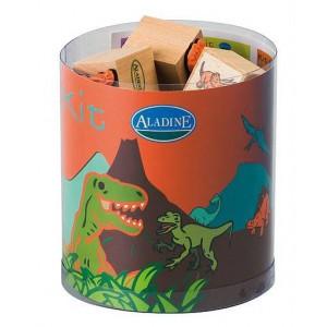 Kit 15 tampons & encreur - stampo kids les dinosaures