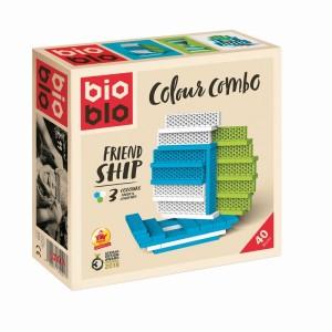 Bioblo Mini Box 40 Briques Blanc Vert Bleu
