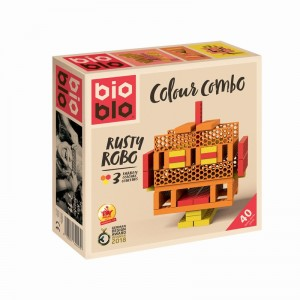 Bioblo Mini Box 40 Briques Orange Rouge Jaune