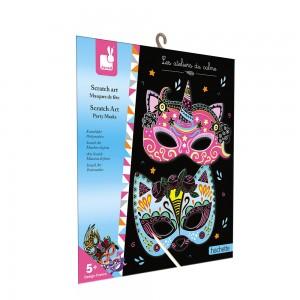 Kit Creatif Scratch Art Masques de Fetes