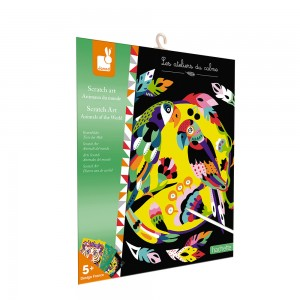 Kit Creatif Scratch Art Animaux du Monde
