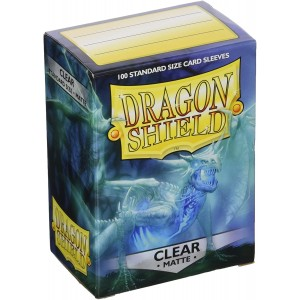 100 Proteges Cartes Dragon Shield Clear Matte