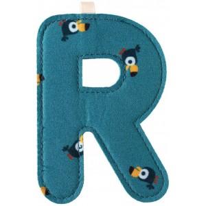 Lettre Majuscule R en tissu