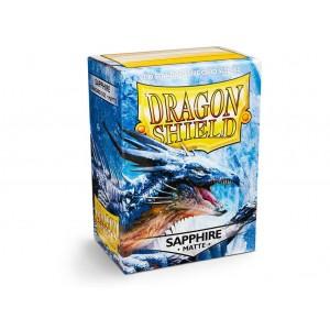 100 Proteges Cartes Dragon Shield Sapphire Matte