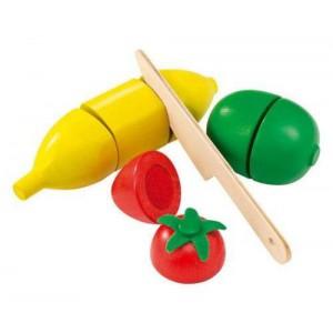 Salade de fruit - fruits a velcro en bois