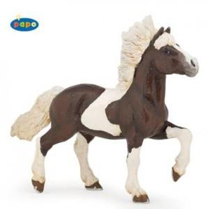 51541 cheval islandais pie alezan marron