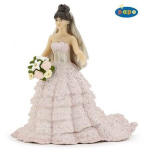 39070 mariee robe dentelle rose