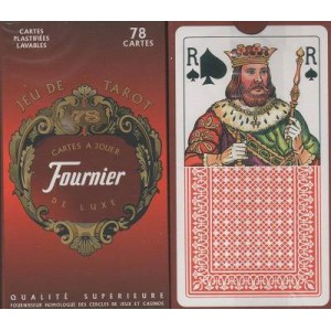 Tarot 78 cartes plastifiees lavables - dos rouge
