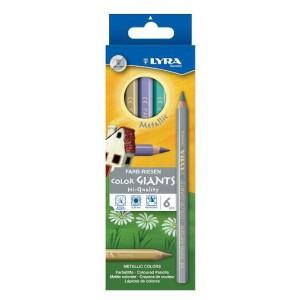 6 Crayons de Couleur Effet Metal