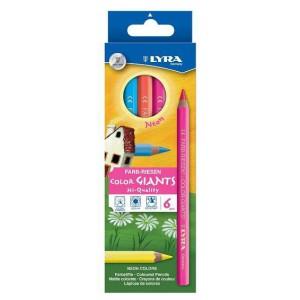 6 Crayons de Couleur Effet Fluo Neon