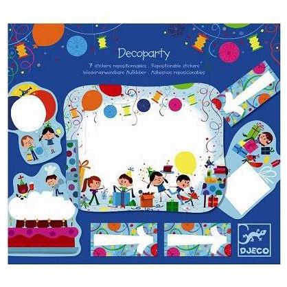 Decoparty - 7 stickers repositionnables anniversaire