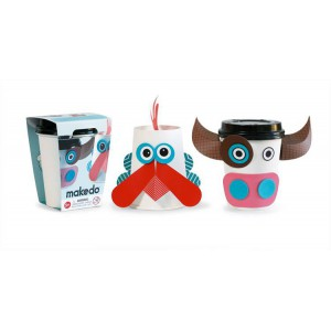 Cup critters makedo vache coq