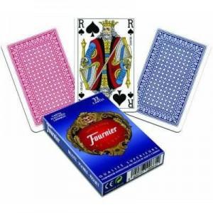 32 cartes belote plastifiees lavables bleu