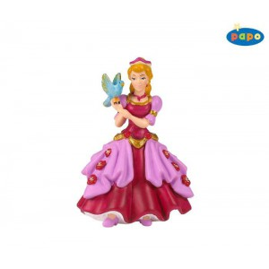 Princesse laetitia a l'oiseau - robe rose